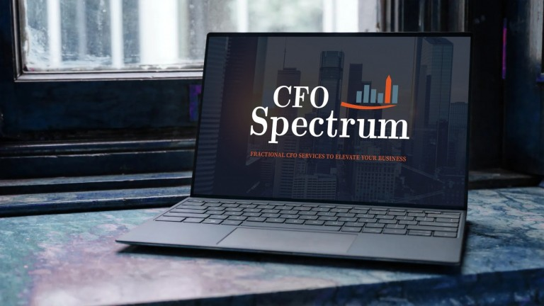 CFO Spectrum Website Design - Laptop