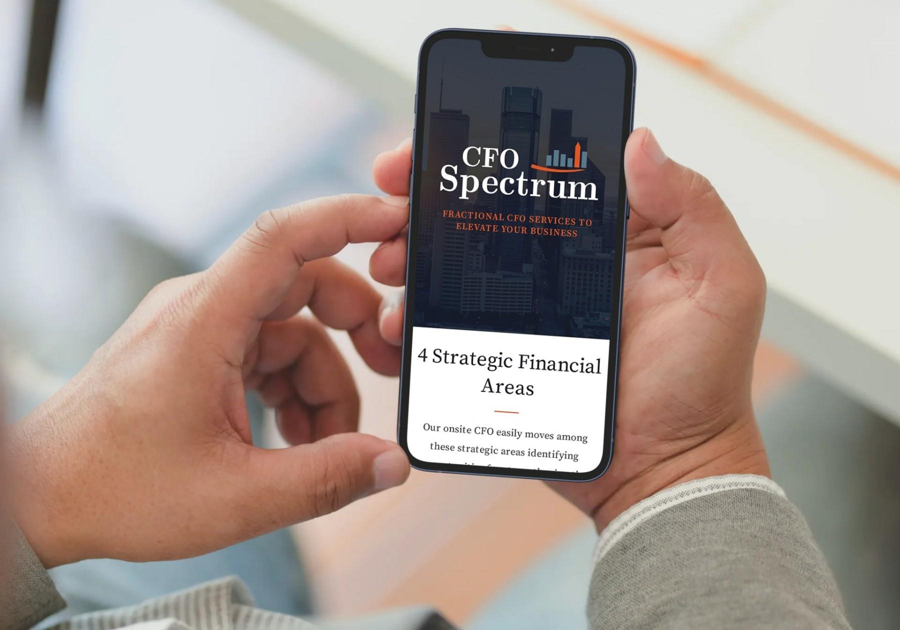 CFO Spectrum Website Design - Smartphone
