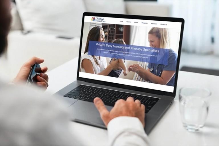 Children's Home Care Website Design - Laptop