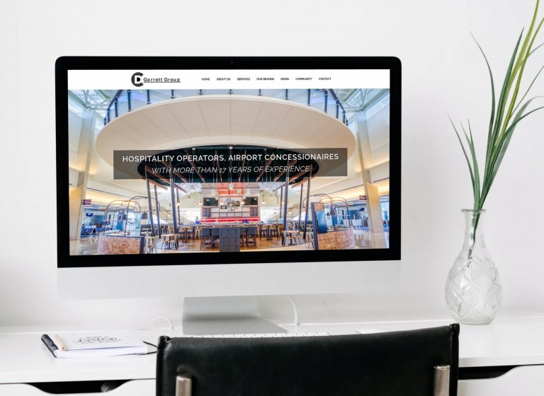 D.C. Garrett Group Website Design - iMac