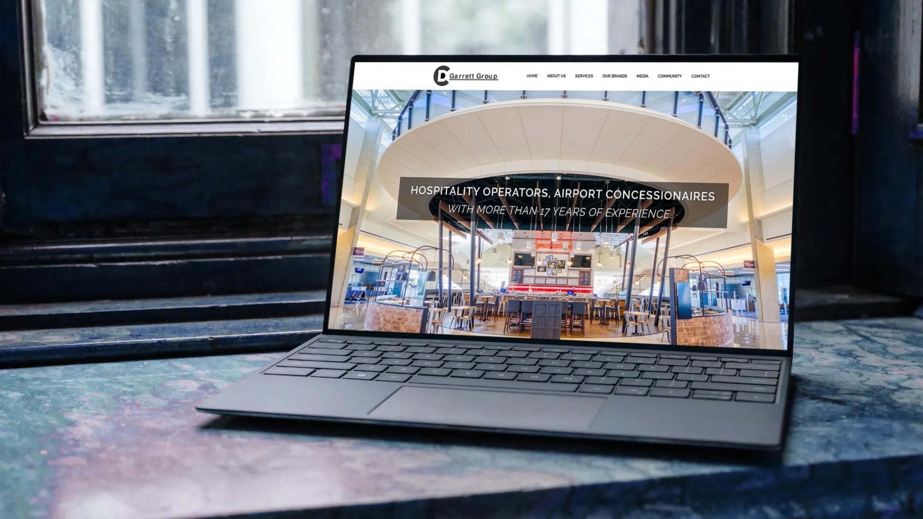D.C. Garrett Group Website Design - Laptop