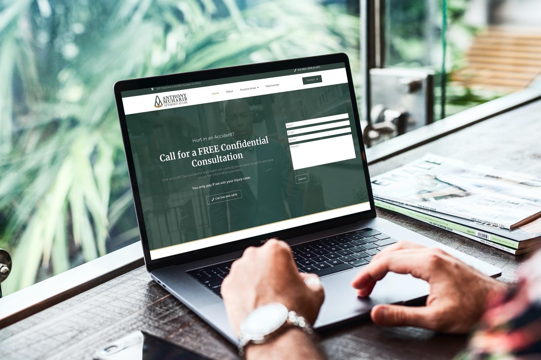 Muharib Law Website Design - Laptop