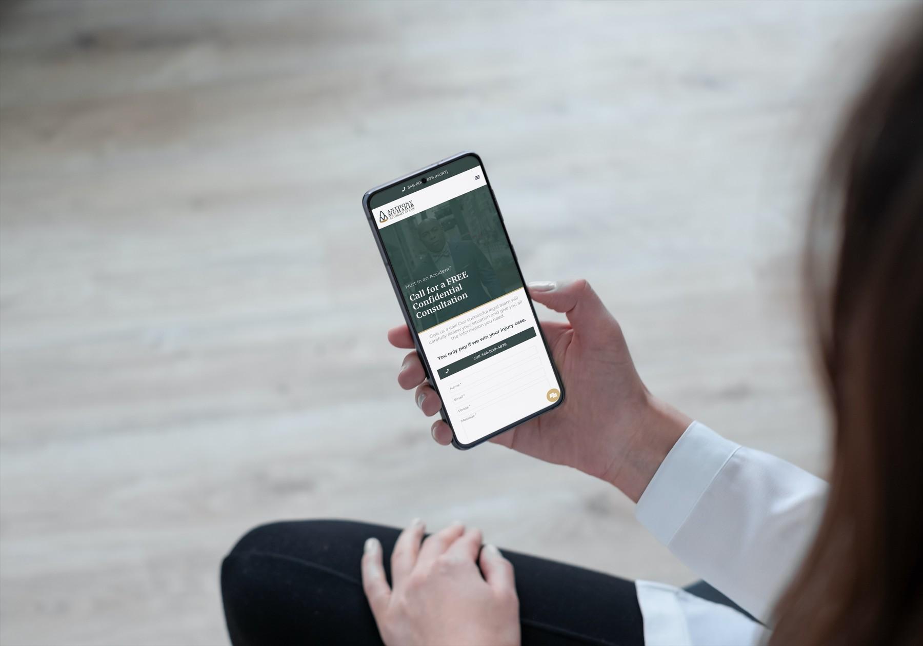 Muharib Law Website Design - Smartphone