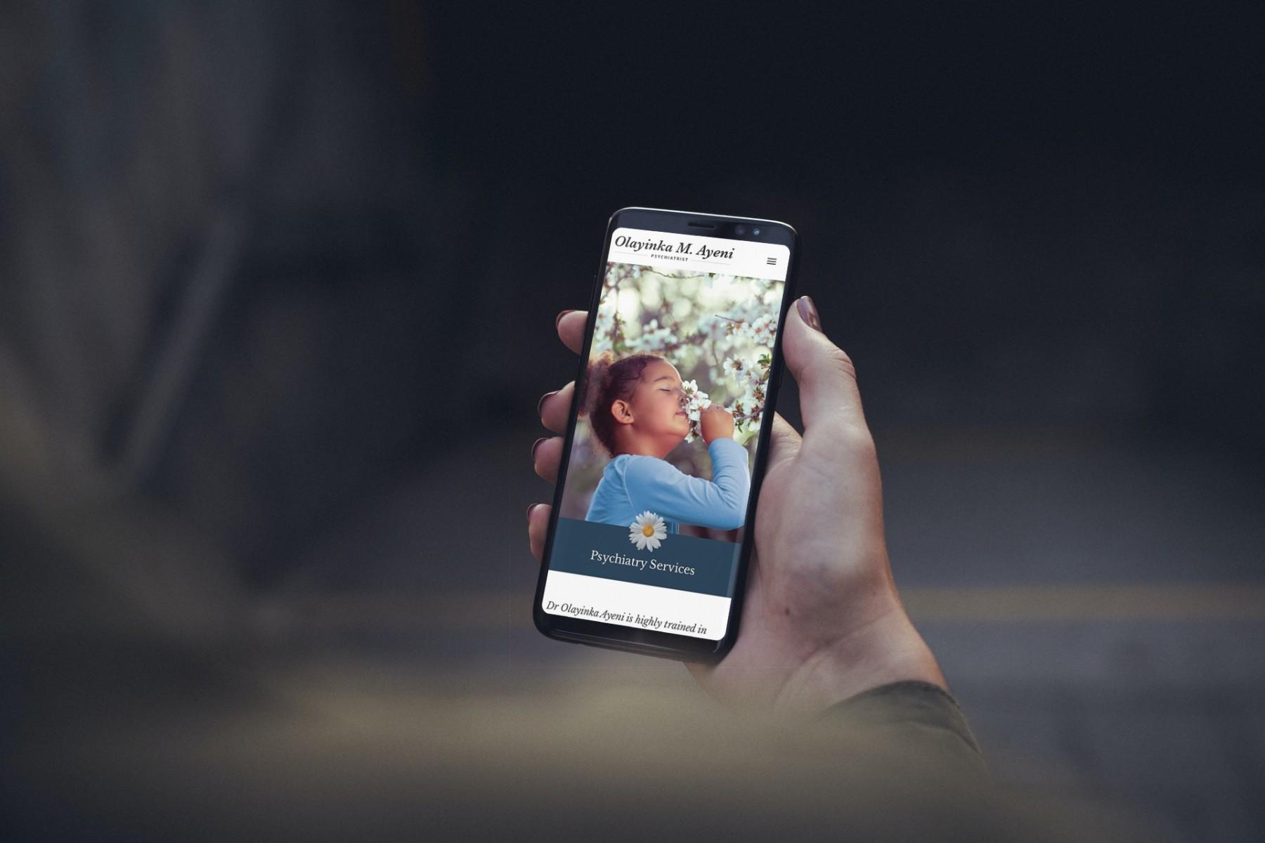 Olayinka M. Ayeni Website Design Smartphone