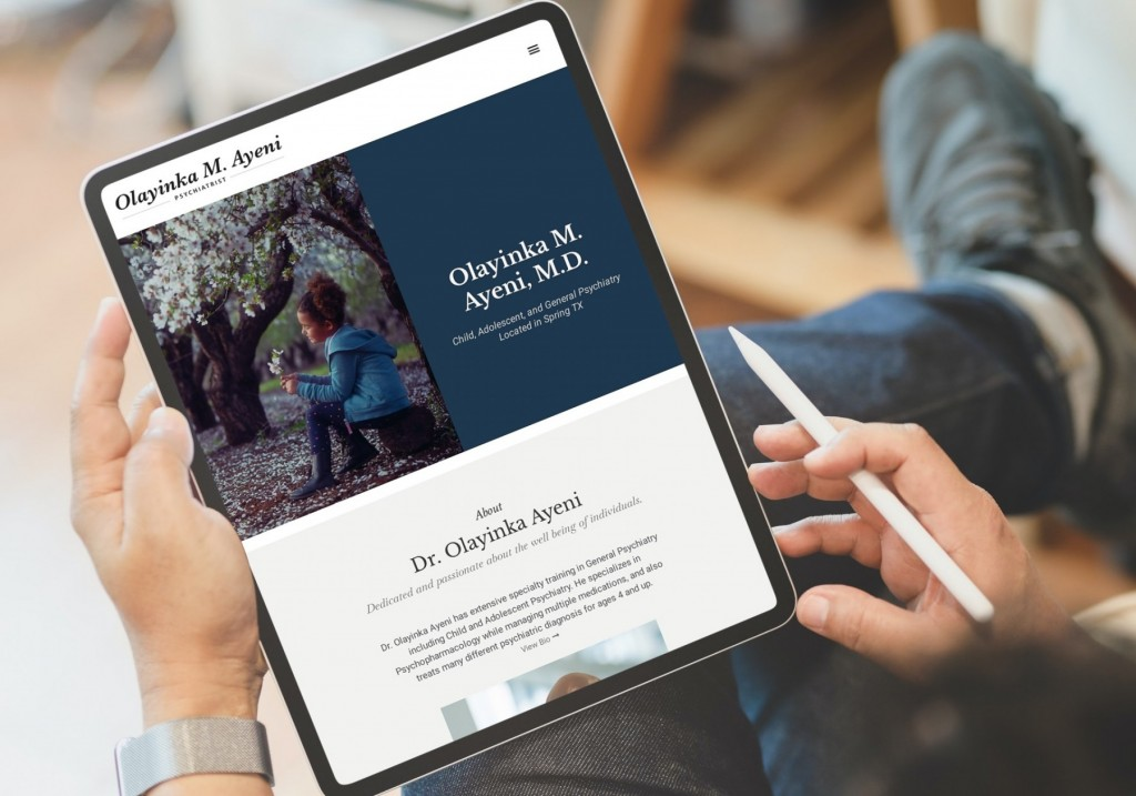 Olayinka M. Ayeni Website Design Tablet