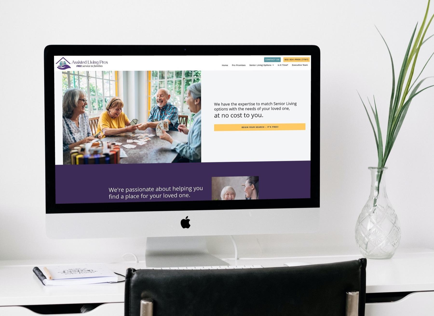 Assisted Living Pros Website Design - Desktop