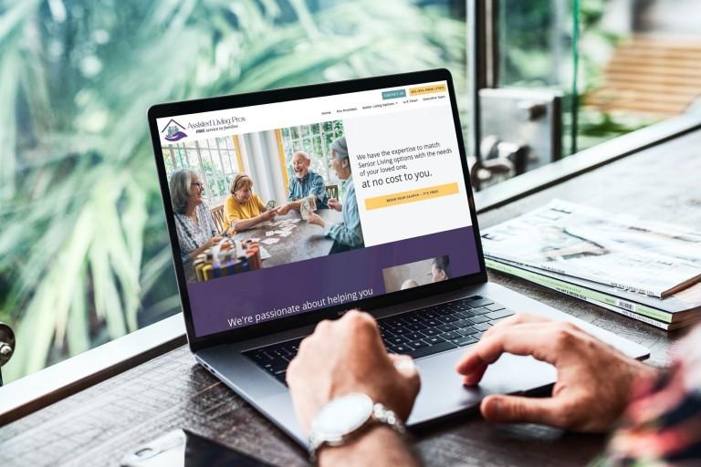 Assisted Living Pros Website Design - Laptop