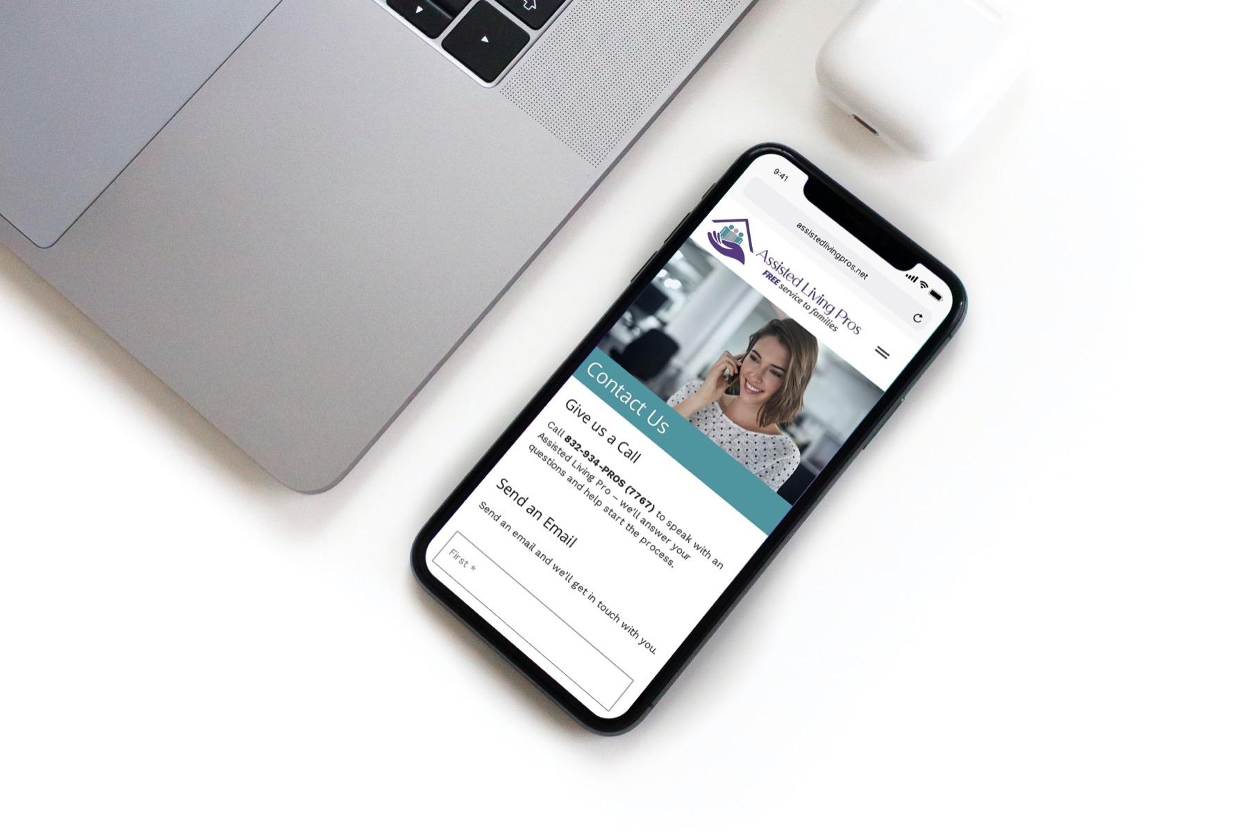 Assisted Living Pros Website Design - Smartphone