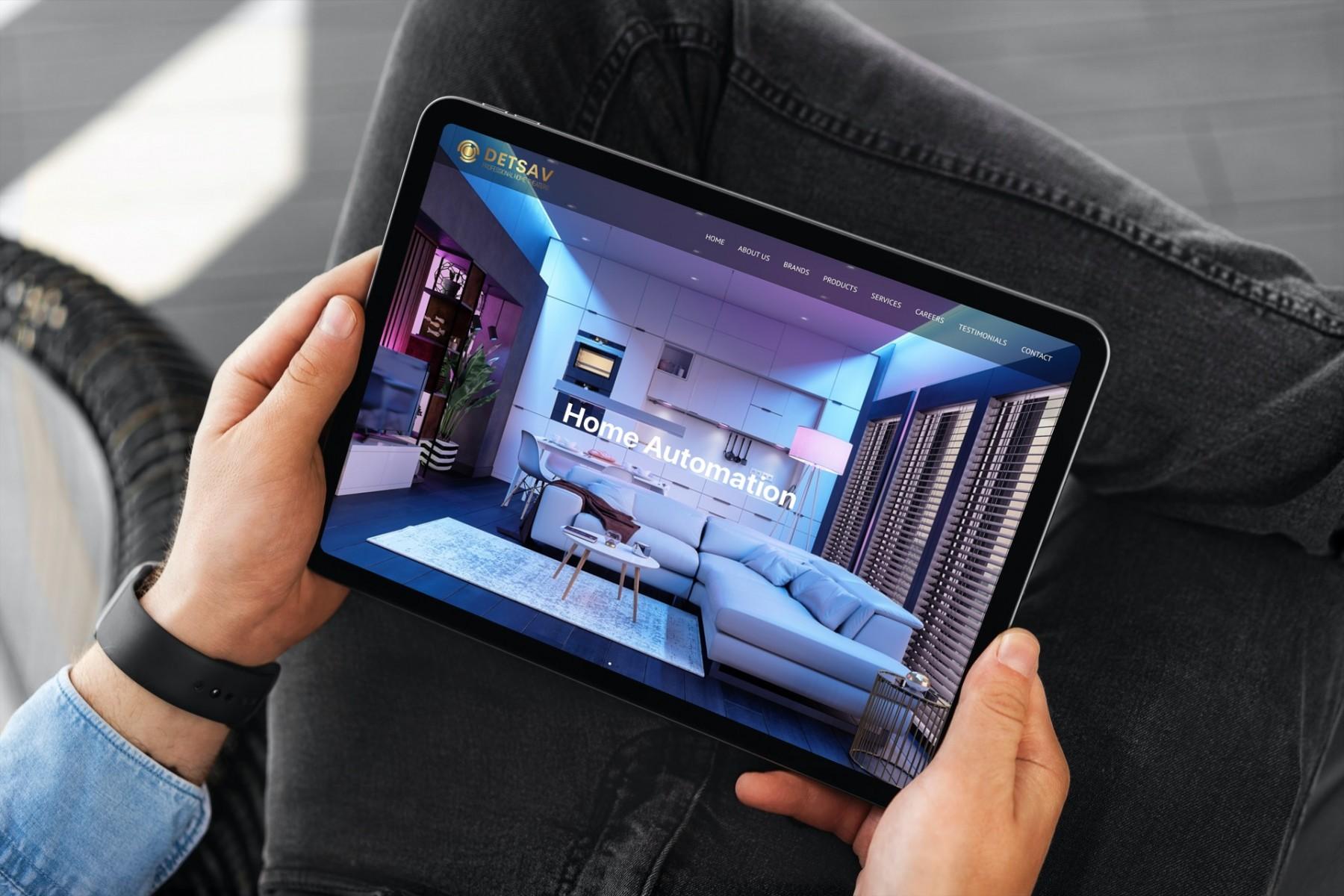 DETSAV Website Design - iPad
