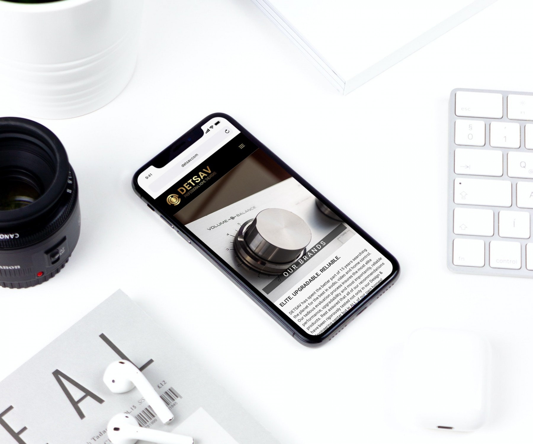 DETSAV Website Design - iPhone